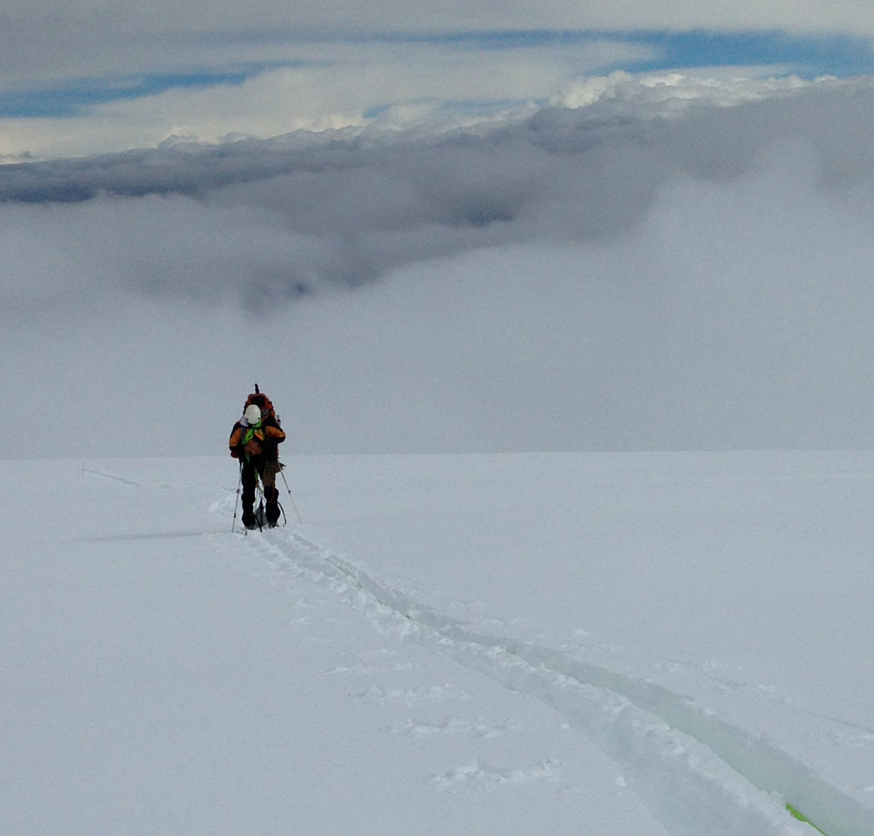 Somewhere high up on the Sheep Glacier.